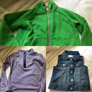 jackets/pullovers (3 in total) Size 4